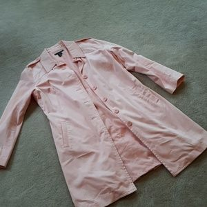 PLUS Apostrophe Stretch Pink Trench Coat